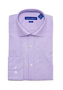 Slim Stretch Purple Geo Dobby Dress Shirt