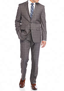 Vince Camuto Modern-Fit Windowpane Suit