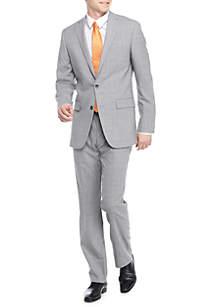 Modern-Fit Plaid Suit