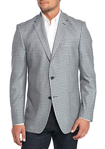 Light Blue-Grey Check Sport Coat