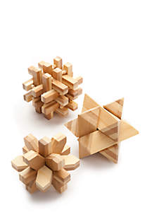3-Pack Jumbo Wooden Puzzles