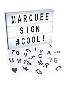 Marquee Light Box Sign