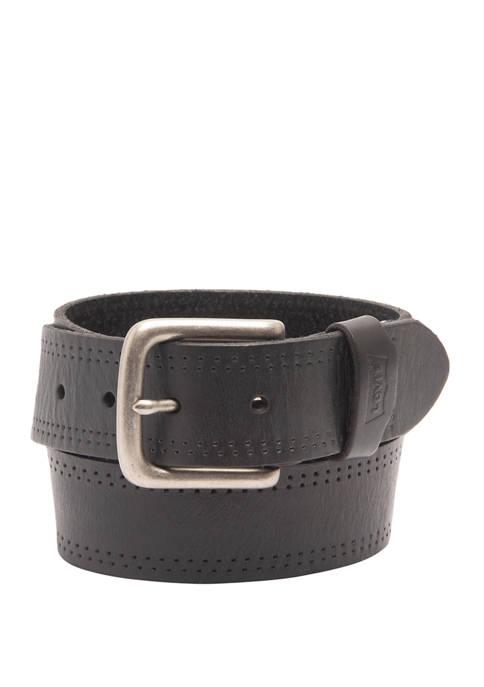 Needle Perforation Leather Belt