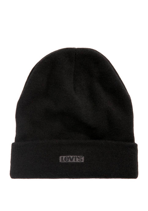 Levi's® Beanie with Flat Tab Embroidery
