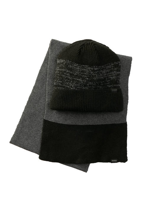 Levi's® Mens Beanie and Scarf Set
