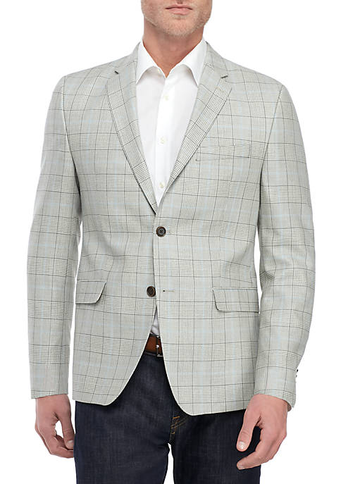 Gray and Blue Plaid Sports Coat