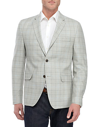 Austin Reed Gray And Blue Plaid Sports Coat Belk