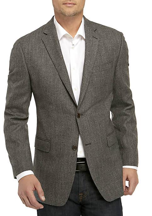 Gray/Brown Herringbone Sports Coat