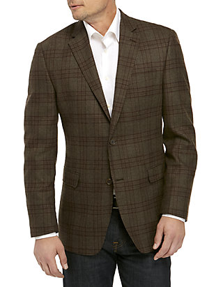 Austin Reed Brown Olive Plaid Sports Coat Belk