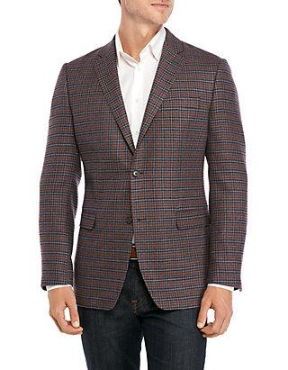 Austin Reed Gray Rust Blue Check Sport Coat Belk