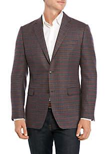 Austin Reed Gray Rust Blue Check Sport Coat