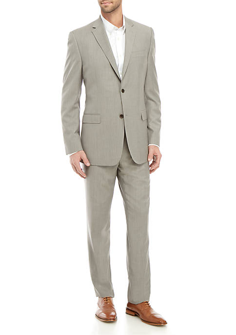 2-Piece Gray Stripe Suit