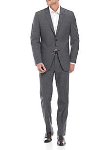 Austin Reed Black and White Tic Suit