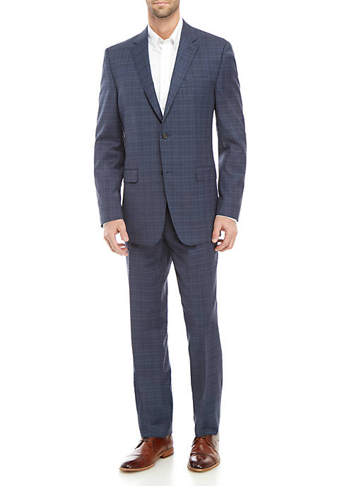 Austin Reed 2-Piece Blue Plaid Suit