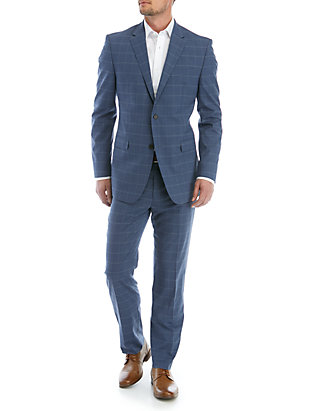 Austin Reed Blue Windowpane Suit Belk