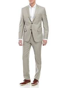 Austin Reed Solid Tan Suit