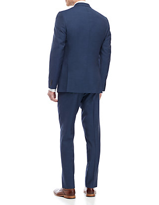 Austin Reed Blue Solid Suit Belk