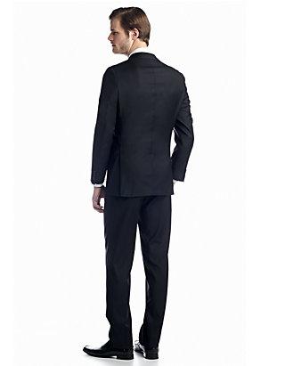 Austin Reed Black Solid Basic Suit Belk