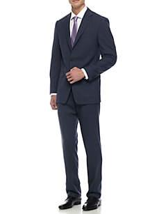 Classic-Fit Plaid Suit