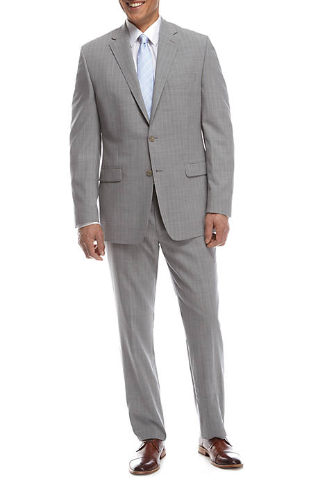 Austin Reed Light Gray Blue Stripe Suit