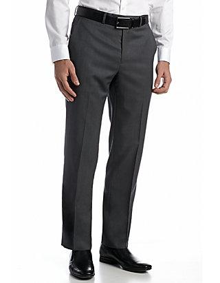 Austin Reed Solid Flat Front Pants Belk