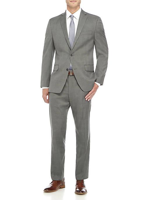 MICHAEL Michael Kors Light Grey Plaid Suit