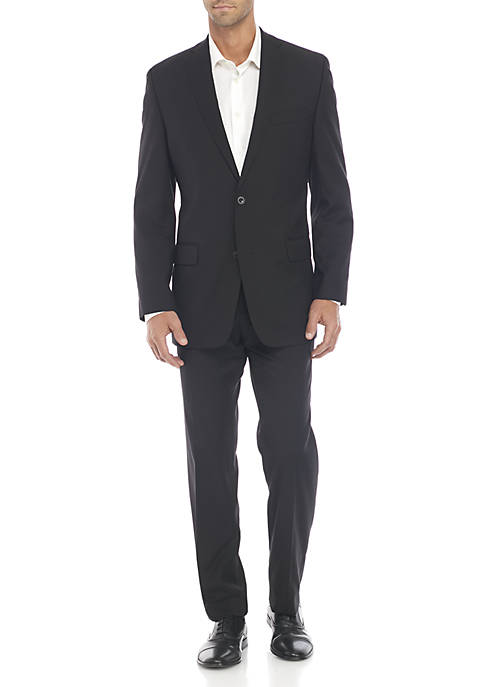 MICHAEL Michael Kors Black Solid Suit
