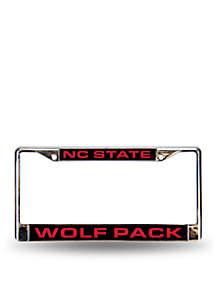 NC State Red Chrome License Frame