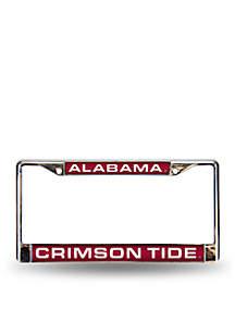 Alabama Red Chrome License Frame