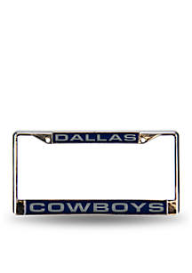 Dallas Cowboys Blue Chrome License Frame-Online Only