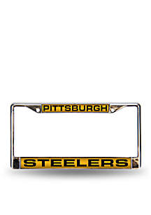 Steelers Yellow Chrome License Frame