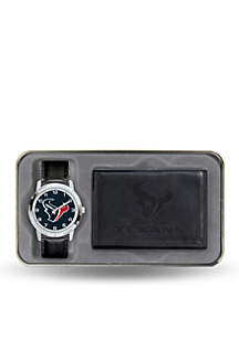 Houston Texans Black Watch and Wallet Gift Set-Online Only