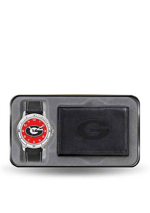 Rico Industries Georgia Black Watch And Wallet Gift