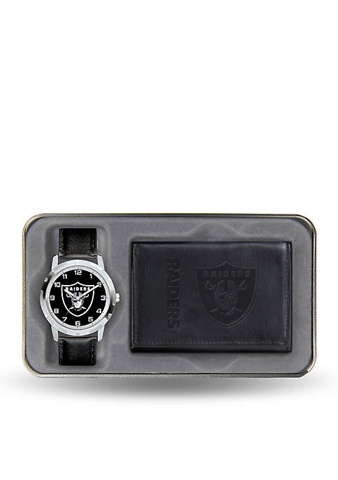 Rico Industries Oakland Raiders Watch and Wallet Gift