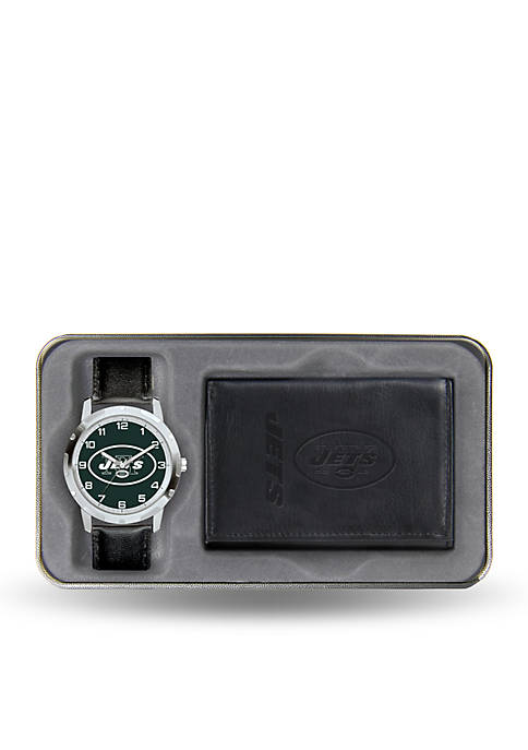 New York Jets Watch and Wallet Gift Set-Online Only