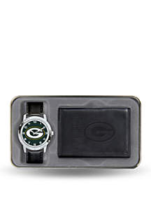 Rico Industries Green Bay Packers Black Watch and Wallet