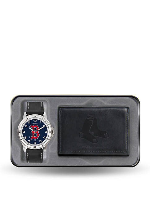 Red Sox Black Watch And Wallet Gift Set-Online Only
