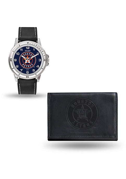 Rico Industries Houston Astros Watch and Wallet Gift