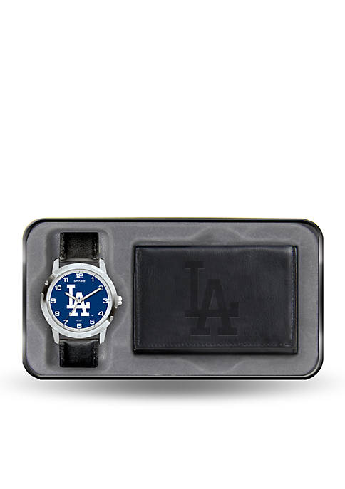 Rico Industries LA Dodgers Black Watch and Wallet