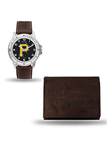 Pittsburg Pirates Brown Watch and Wallet Gift Set-Online Only