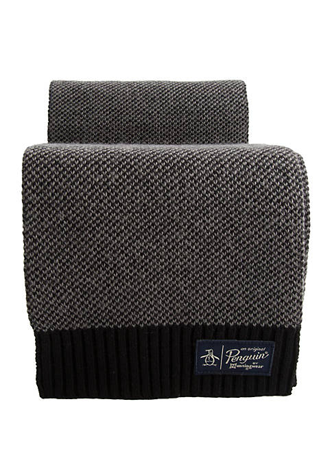 Original Penguin Birdseye Knit Scarf