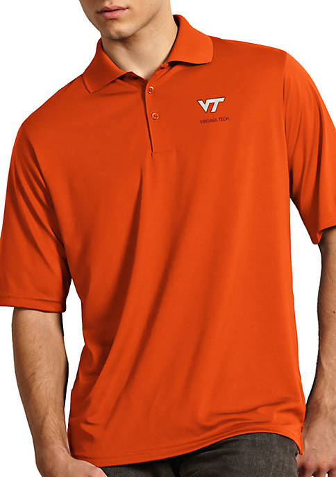 Antigua® Virginia Tech Hokies Exceed Short Sleeve Polo
