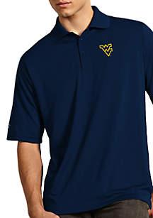 Antigua® West Virginia Mountaineers Exceed Short Sleeve Polo
