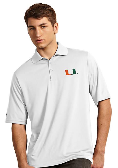 Antigua® Miami Hurricanes Exceed Polo