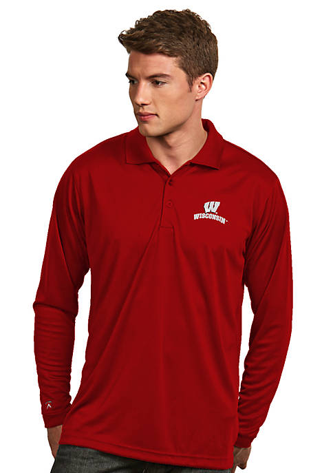 Wisconsin Badgers Long Sleeve Exceed Polo