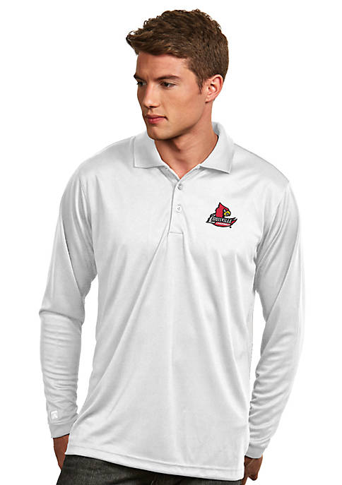 Antigua® Louisville Cardinals Long Sleeve Exceed Polo