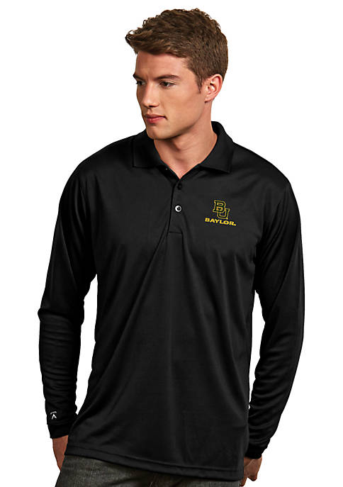 Antigua® Baylor Bears Long Sleeve Exceed Polo