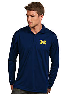 Michigan Wolverines Long Sleeve Exceed Polo