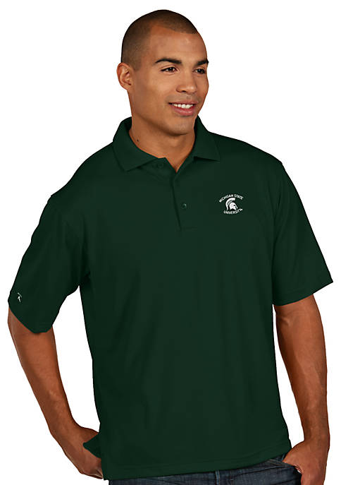 Antigua® Michigan State Spartans Pique Xtra Lite Polo