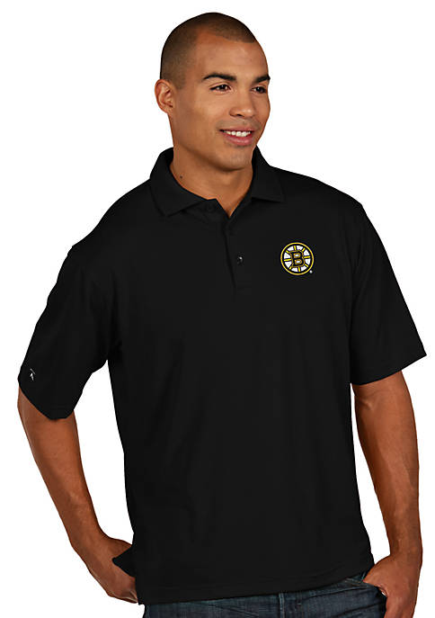 Antigua® Boston Bruins Mens Pique Xtra Lite Polo